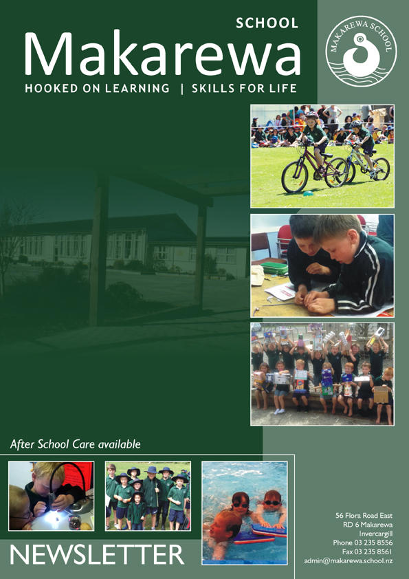 makarewa school newsletter cover