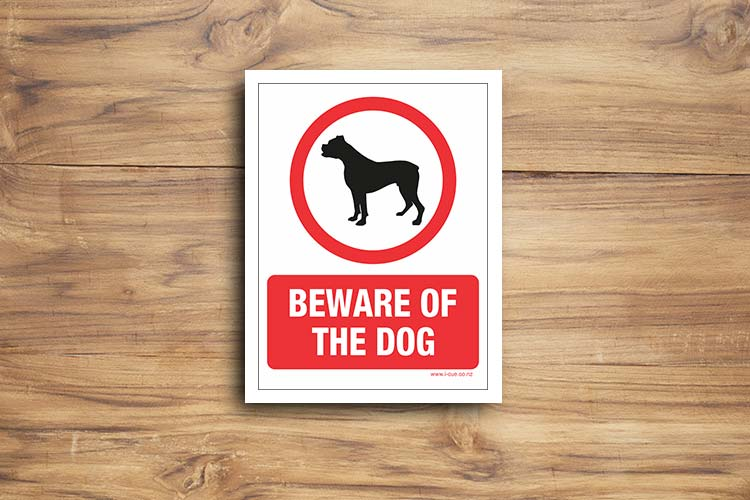 beware of dog sign pdf
