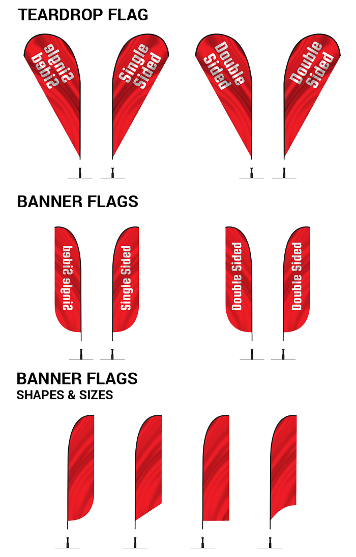 advertising display flag shapes