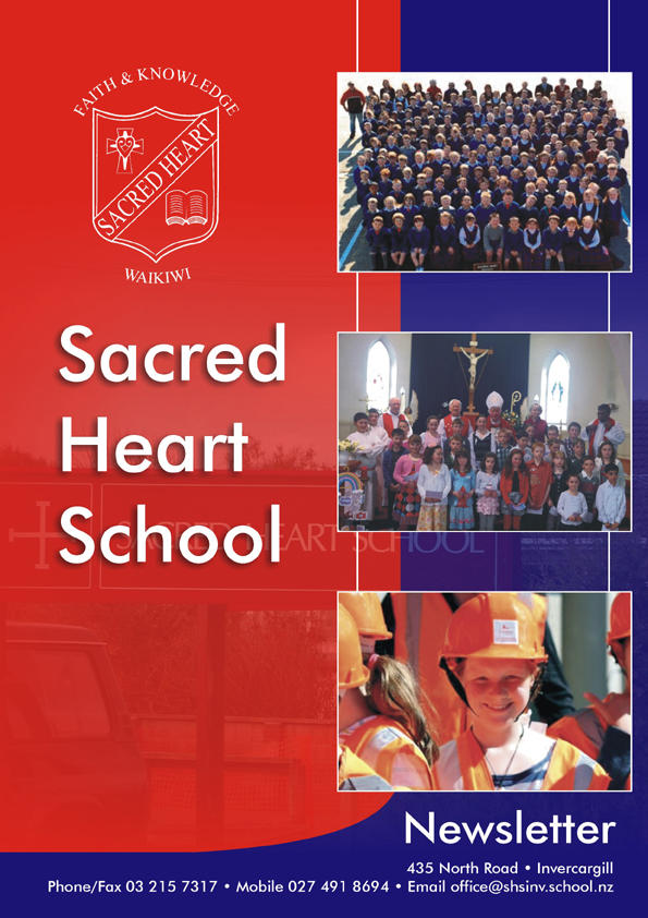 sacred heart school newsletter cover