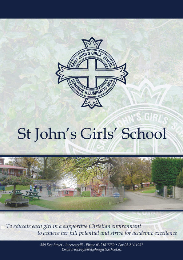 St John Girl's school newsletter cover