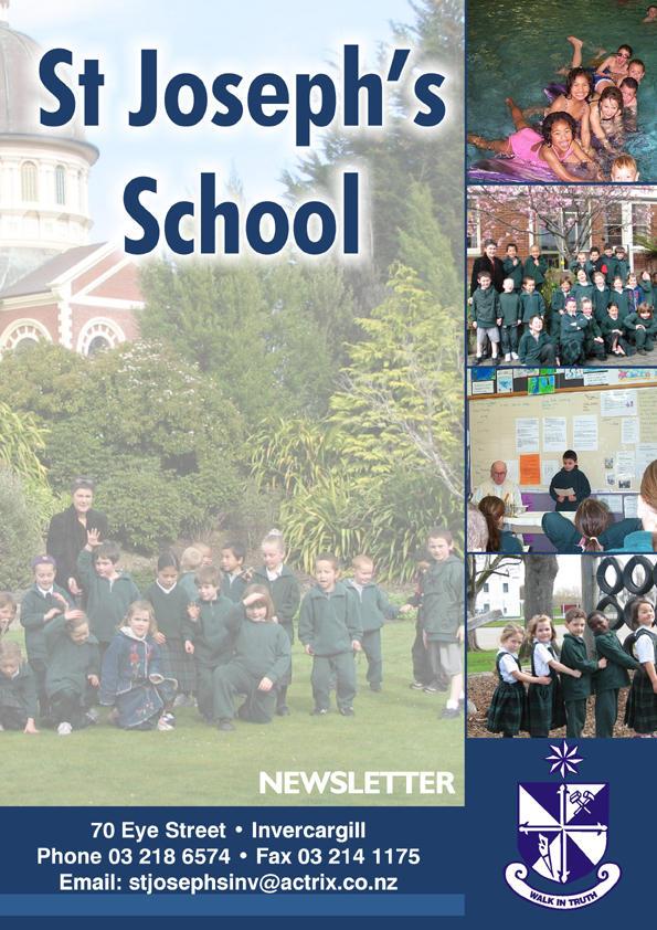 St Joseph school newsletter cover