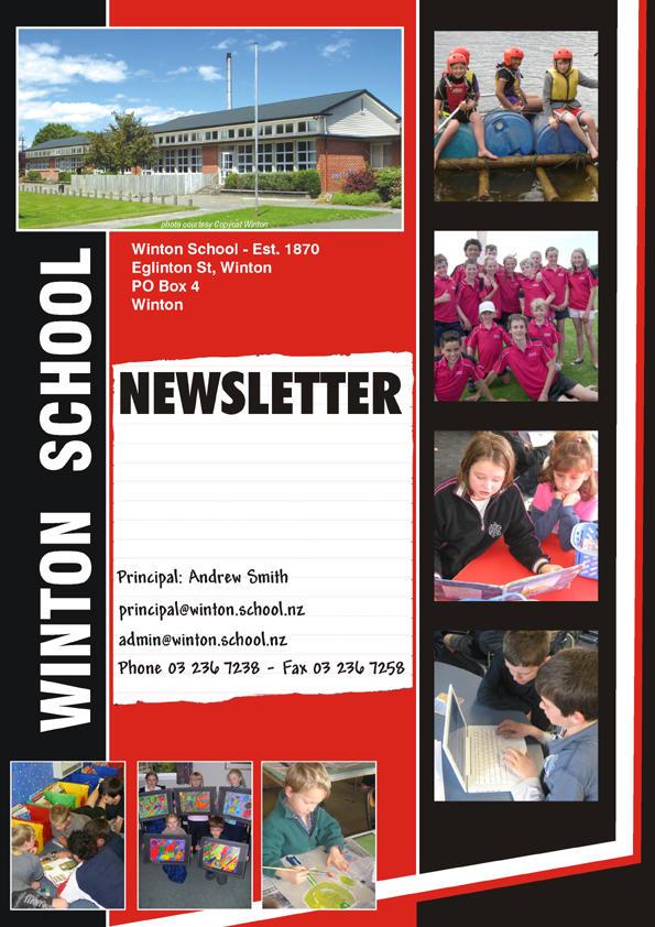 Winton school newsletter cover