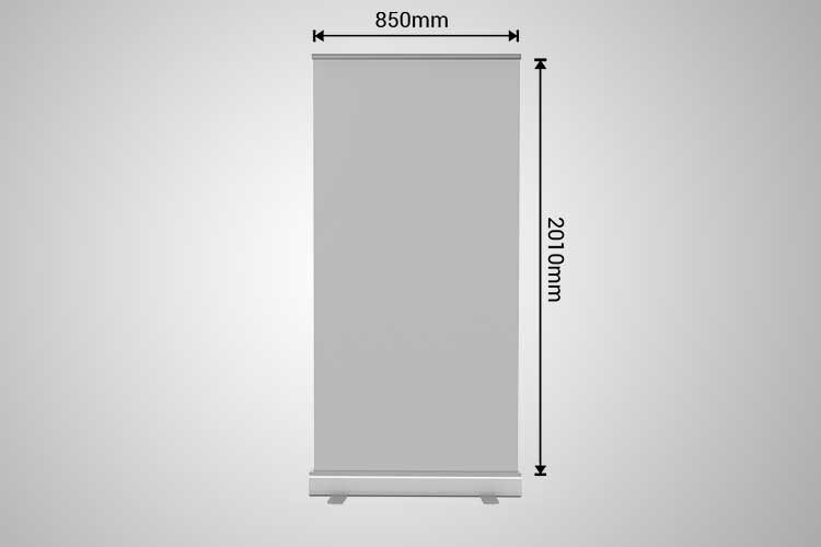 roll up banner 850mm by 2050mm