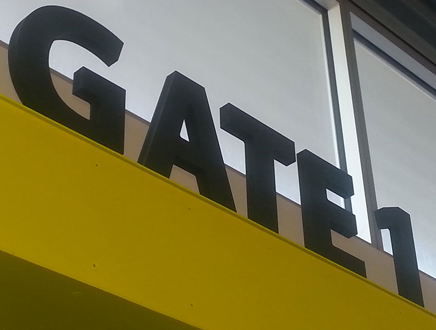 20mm Signex 3D Letters Installed at Invercargill Airport
