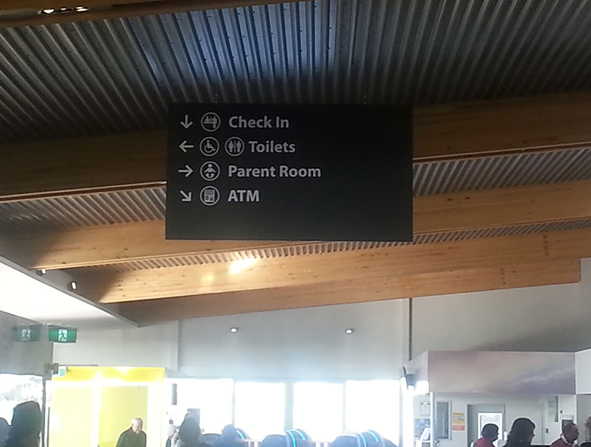 Cut Lettering Applied to ACM & Installed at Invercargill Airport