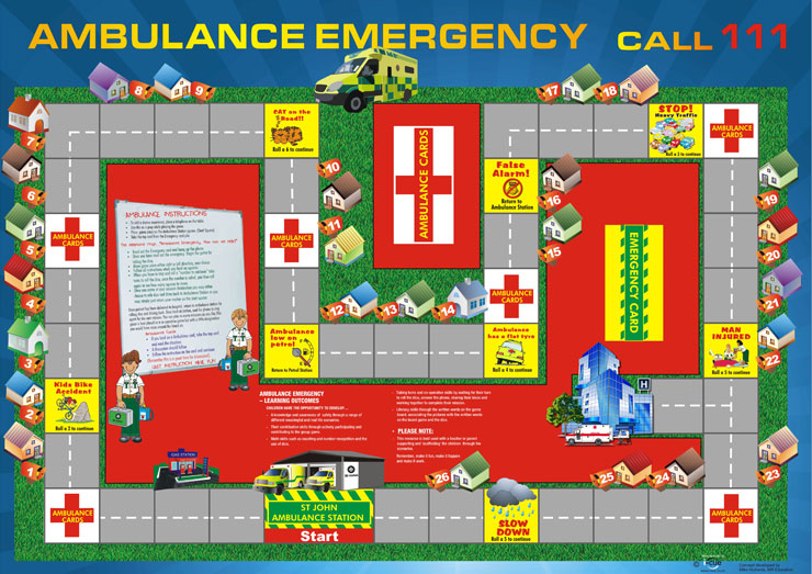 ambulance emergency board game
