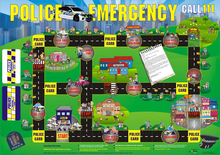 police emergency board game