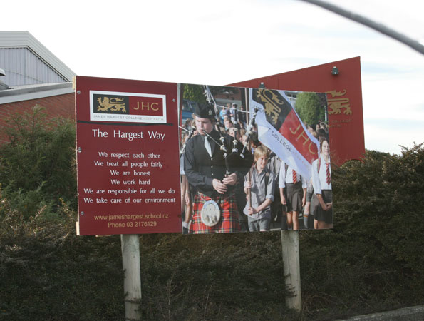 Print and apply school signage