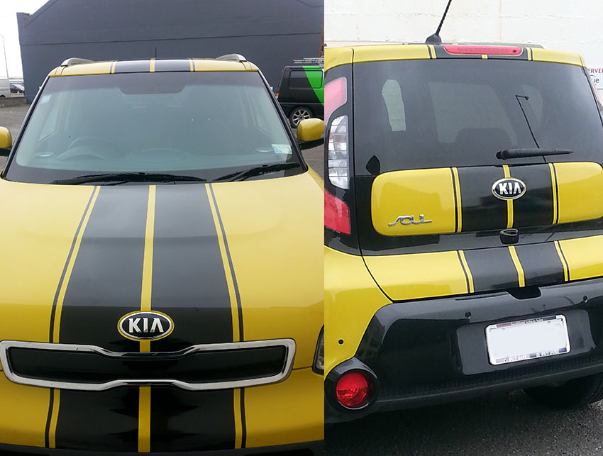 Gloss Black Racing Stripe