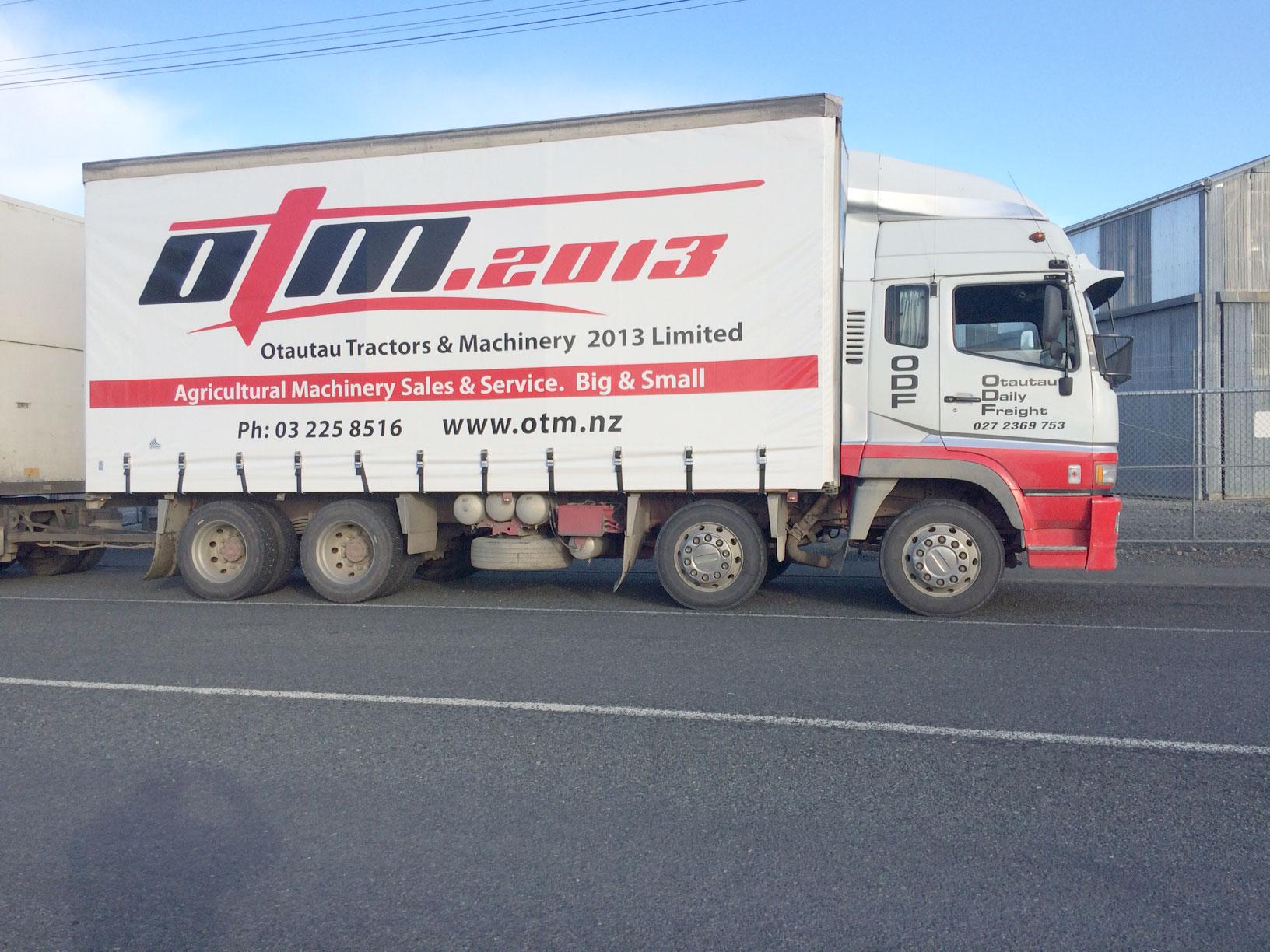 OTM Truck banner