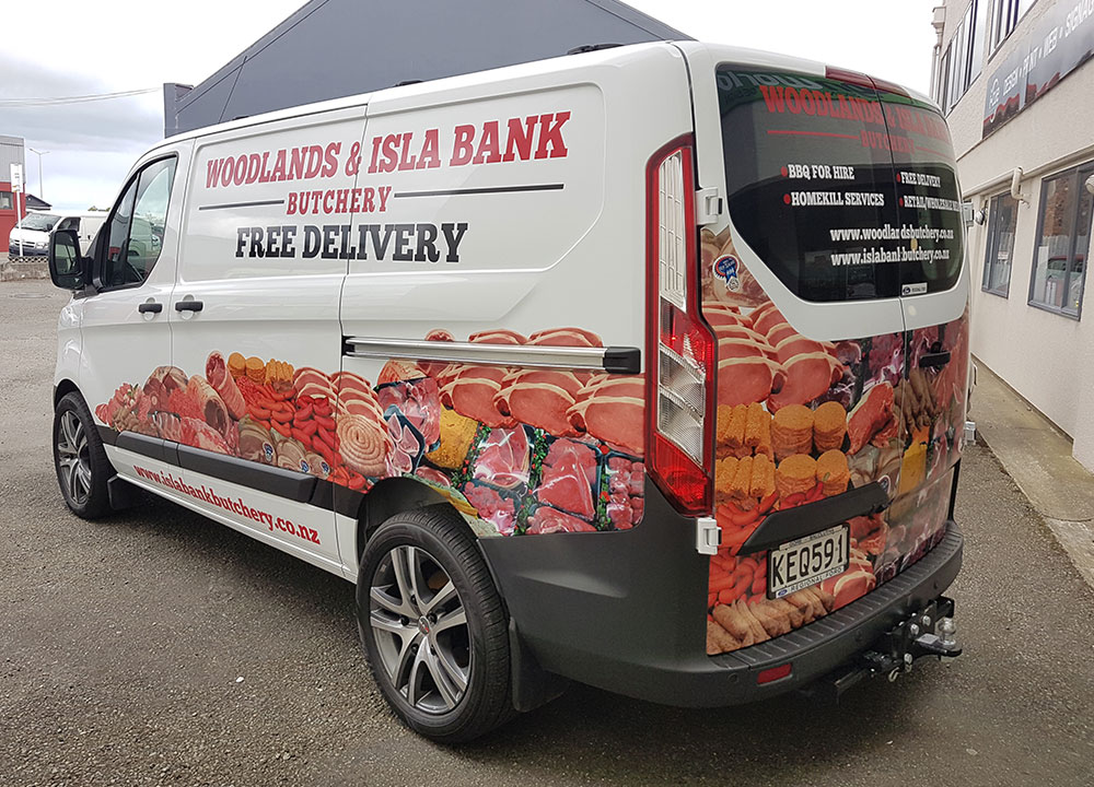 Design, Print and Applied van signage for Woodlands & Islabank Butchery