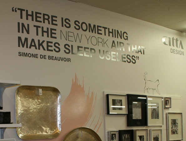 Next Install cut vinyl wall decals in H & J Smith