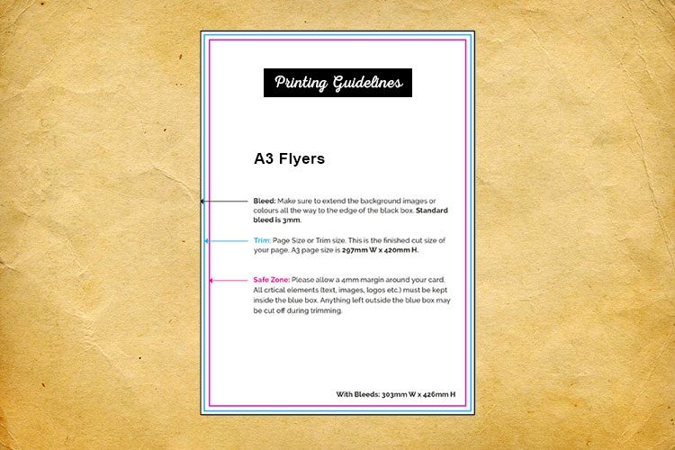 A3 flyers printing guidelines