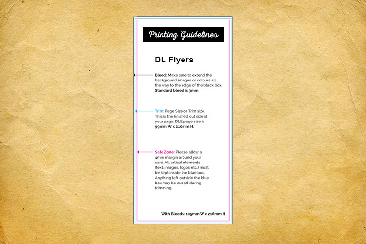 DL flyers printing guidelines