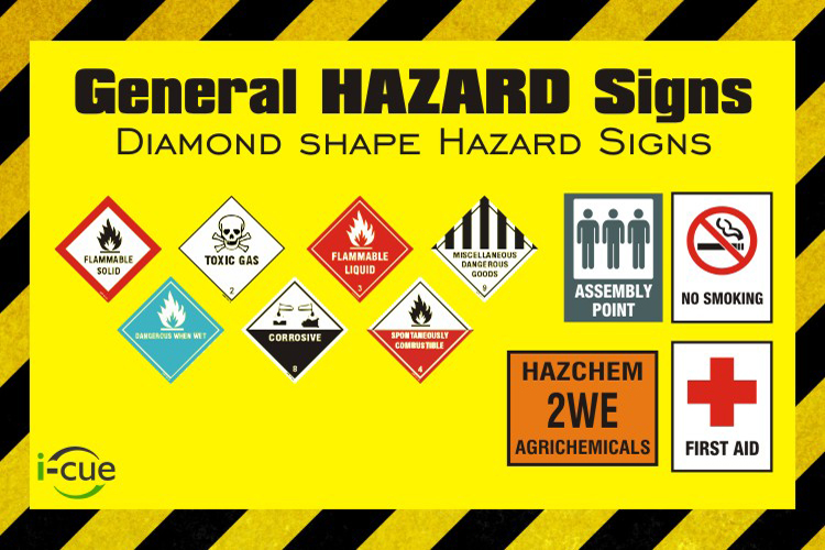 Hazard Signs Health And Safety Signs Warning Signs I Cue