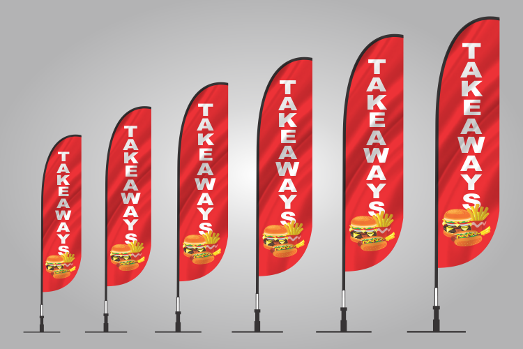 takeaway banner flag