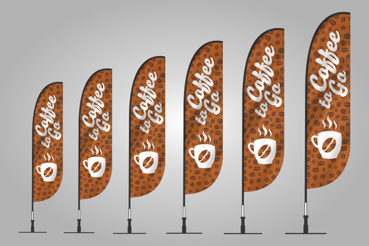 coffee banner flags