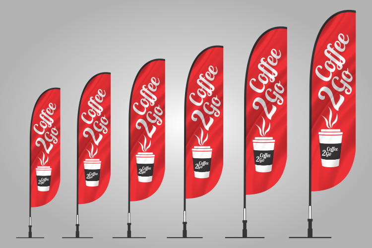 Coffee To Go Banner Flag