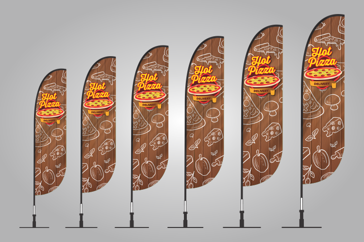 Hot Pizza banner flags