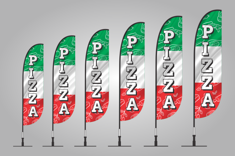 pizza banner flags