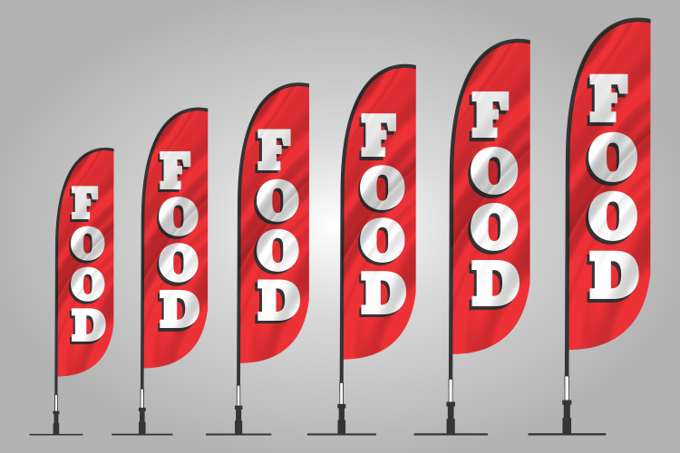 food banner flags