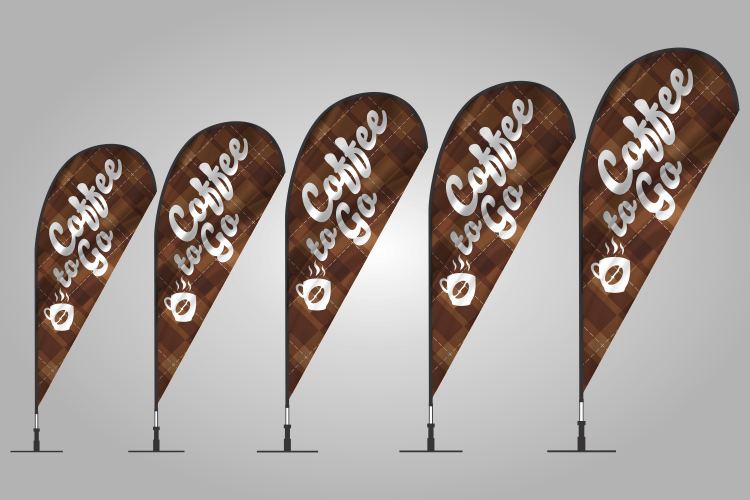Coffee Teardrop Flags 302