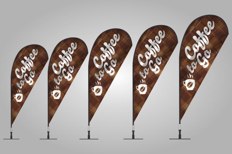 Coffee Teardrop Flags 302