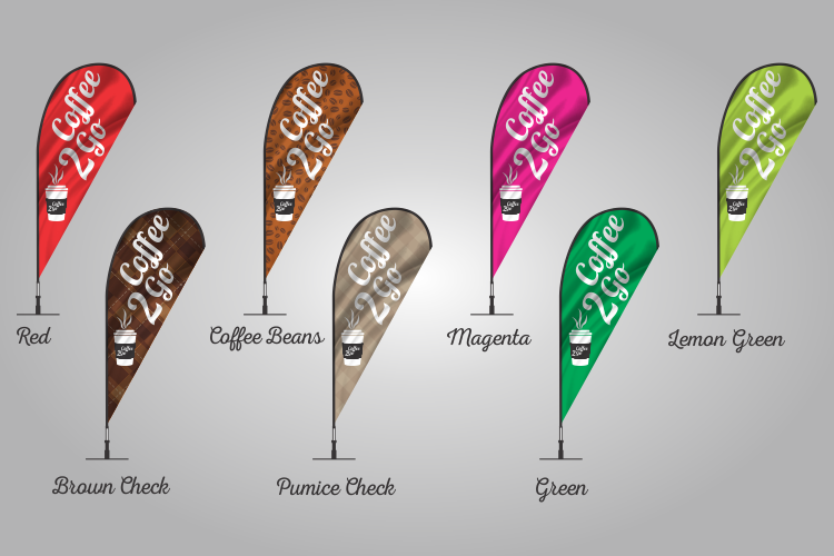 Coffee Teardrop Flags 303 colours