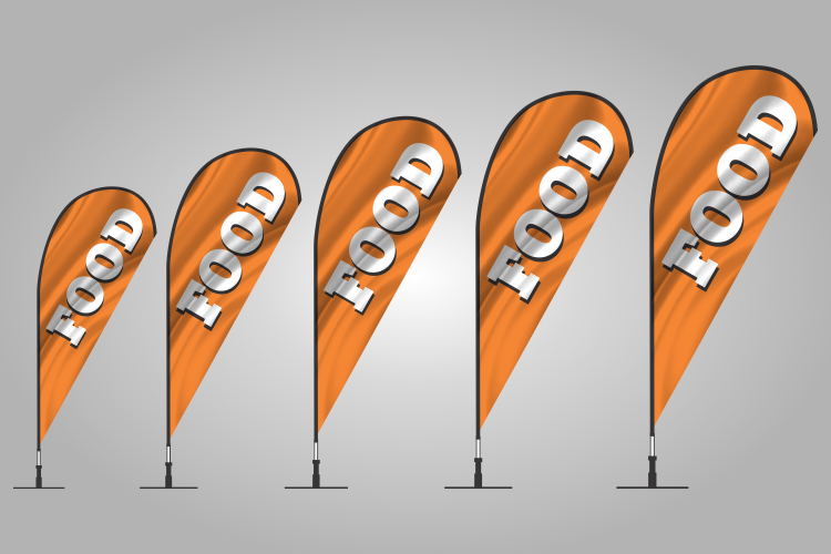 food teardrop flag