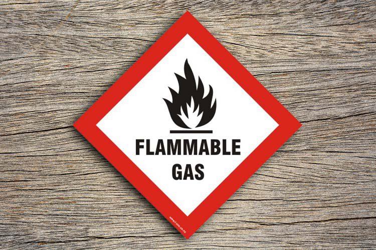 Flammable Gas Hazard Sign