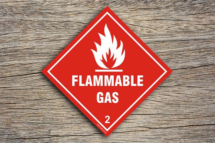 Flammable Gas Hazard Sign