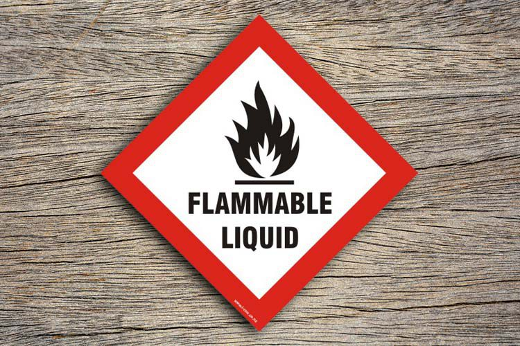 Flammable Liquid Hazard Sign