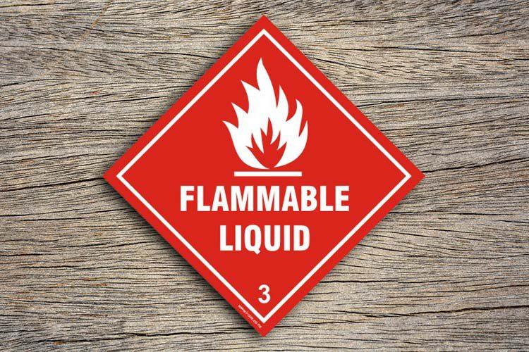 Flammable Liquid Hazard Sign