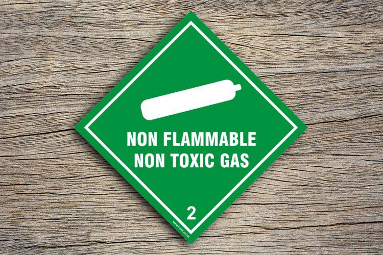 Non Flammable Non Toxic Hazard Sign