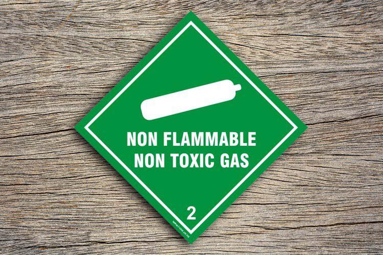 Non Flammable Non Toxic Hazard Sign