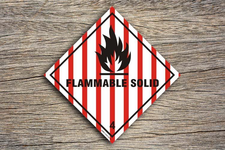 Flammable Solid Hazard Sign