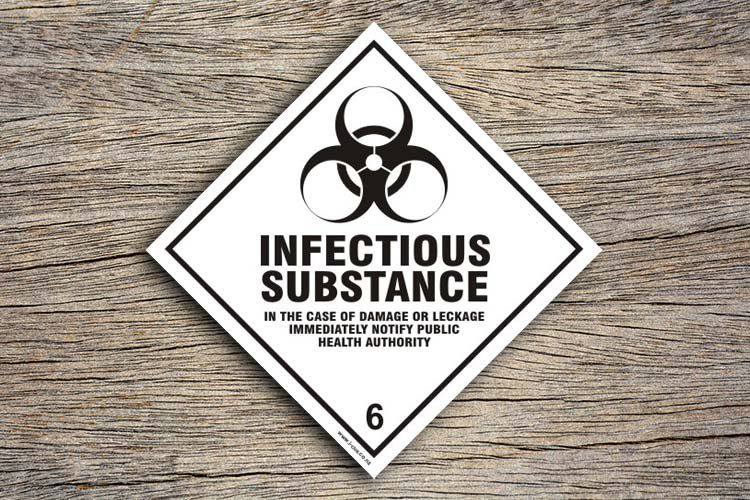 Infectious Substance Hazard Sign