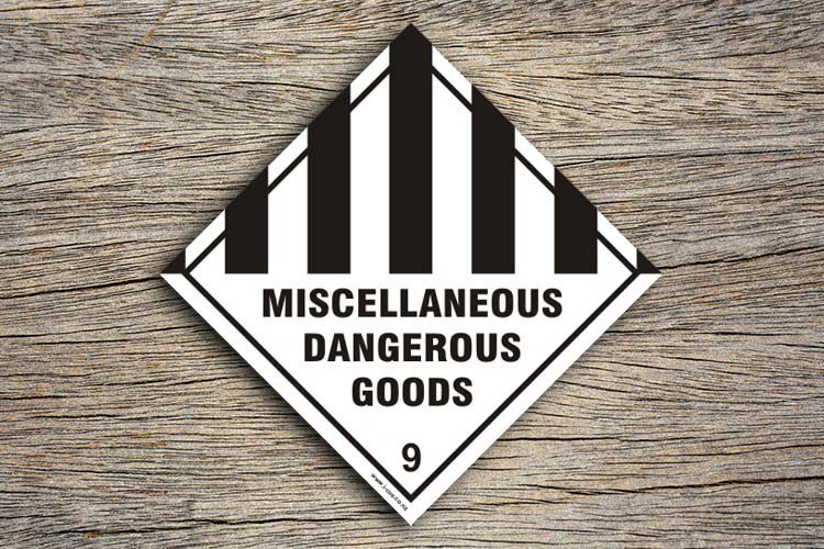 Miscellaneous Dangerous Goods Hazard Sign