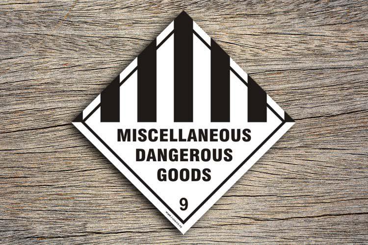 Miscellaneous Dangerous Goods Hazard Sign