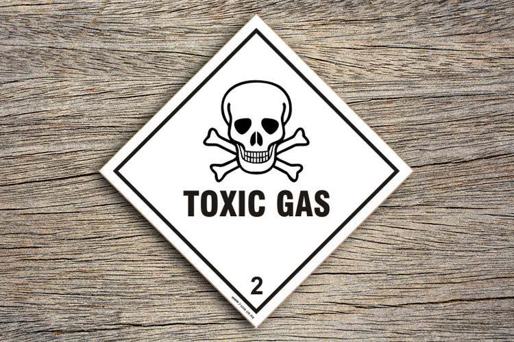 Toxic Gas Hazard Sign