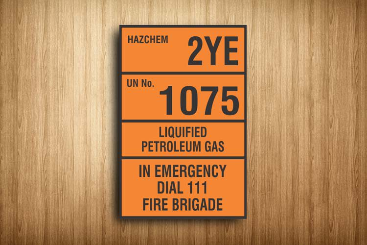 LPG HAZCHEM Sign