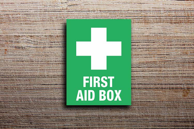 First Aid Box Information Sign