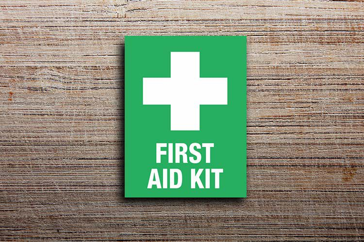 First Aid Kit Information Sign
