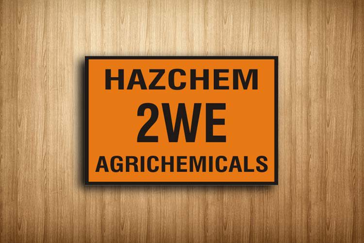 Agrichemicals HAZCHEM Sign