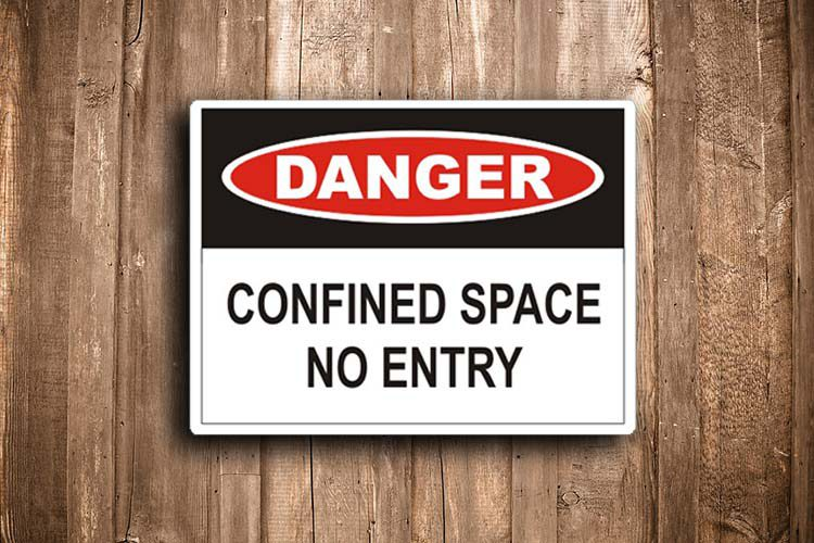 Confined Space No Entry Danger Sign