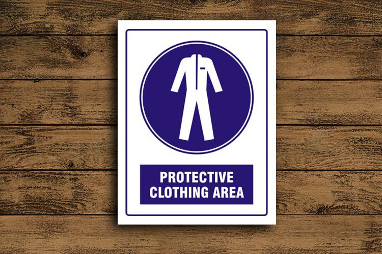 Protective Clothing Area Mandatory Sign