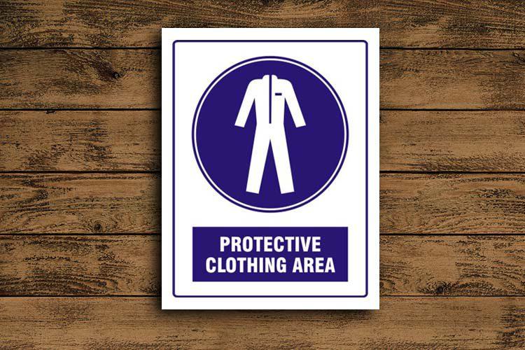 Protective Clothing Area Mandatory Sign