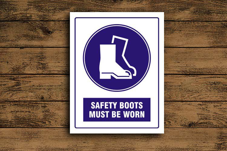 safety boots must be worn Mandatory Sign