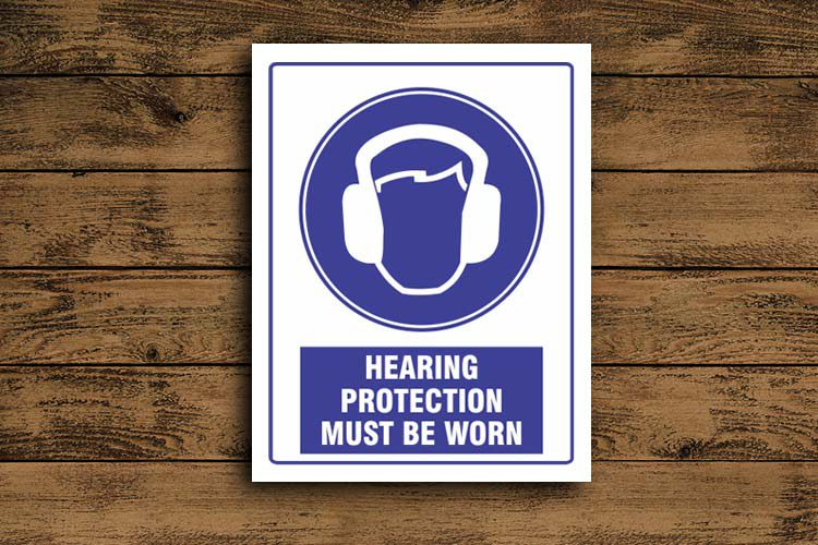 Hearing Protection Mandatory Sign